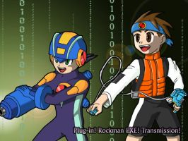 Plug-in Rockman EXE Wallpaper by dougurasu