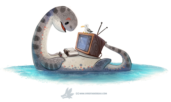 Daily Paint 1285. NESsie by Cryptid-Creations