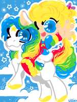 rainbow and starlite by Child-Of-Neglect