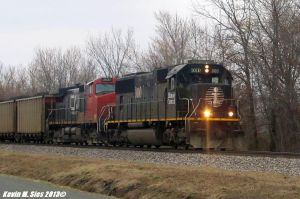 Illinois Central # 1010 leads NS 427 coal train by EternalFlame1891