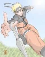 Naruto in Action by Blackbolt52003