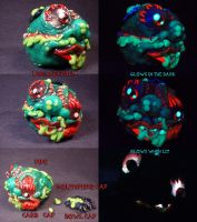 Slobulus Ball Pipe by Undead Ed Glows in the Dark  by Undead-Art