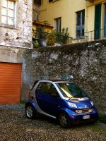 Smart car in an Italian alley. by holzart