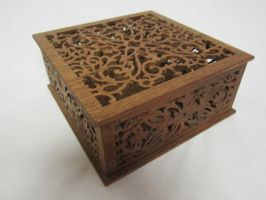 Fretwork walnut box by DMSscroller