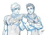 Hulkling and Superboy by Quirkilicious