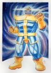 Thanos_marvel (watercolor) by allanjefferson666