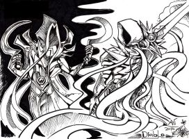 Diablo - Malthael and Tyrael by AlienNocsastarino