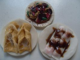 Clay miniatures Chinese food by AizaHoney