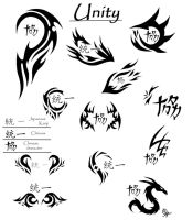 Unity Tattoo Designs 1 by Dahdtoudi