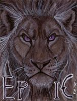 Epic Lion Badge by Foxfeather248