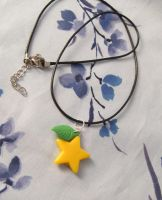 Kingdom Hearts Paopu Fruit Inspired Necklace by emmadreamstar