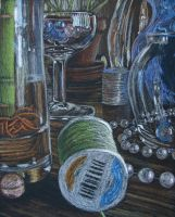 Impressionism Glass Still Life by L-nay
