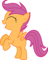 Scootaloo Happy Rear Vector by StarshineCelestalis