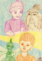 Burgess Children Colored Montage 2 by JakeNickleby