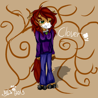 One of my fursona's Clover by dreamer-the-wolf-3