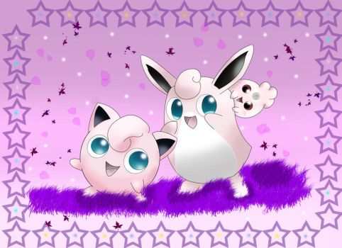 Jigglypuff Family by Terranoth