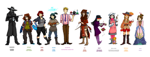 What If Your Friends Were Game Characters? by VikingMera
