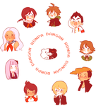 DANGANRONPA stickers by kn33highs