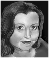 Portrait of Amy- commission by Jodee