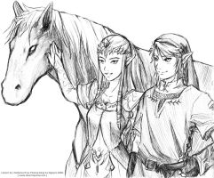 LoZ - Twilight Princess - line by Meibatsu