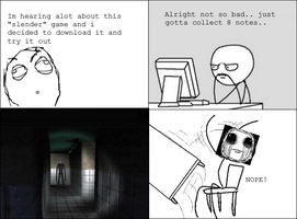 My reaction playing Slender by ComputerN3RD