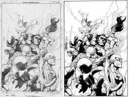 New Avengers 28 Inked by DontBornInInk