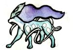 Suicune Watercolor by Justin-Hoffman