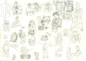 Doctor Who drawings by davids-little-star