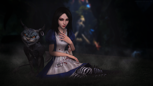 Alice and The Cheshire Cat by andersoncathy