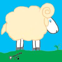 Sheep in color by shewolfpup2000