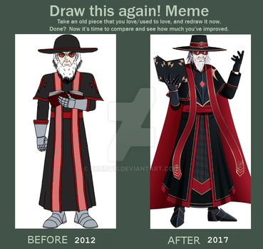 Meme Before and After: Father Samiel by CRUMVIII