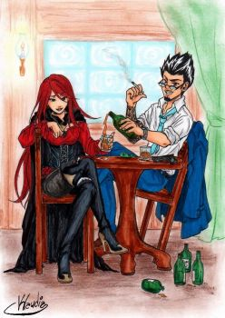Commission-Eris 02 _A glass of rum by Klaudia-Ayame
