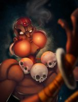 Dhalsim: Yoga Blowfish by Zatransis
