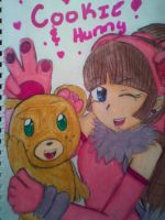 Hunny the Bear and Cookie by BebeKimichi