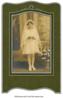 1929 Vintage Photo and Frame 1st Communion vers 2 by EveyD