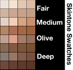 Skintone Swatches by Xadrea