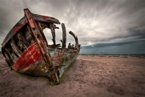 braunton burrows shipwreck by CharmingPhotography