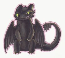 Smiling Toothless Magnet by Anavar
