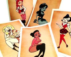 Cast Member Pin Up Prints by seystudios