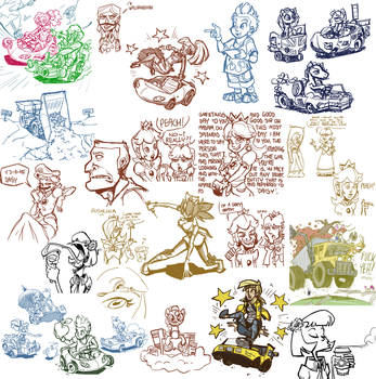 Livestream sketch dump #11 by TheArtrix