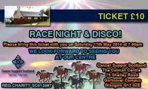 Race Night Ticket For Cancer Support Scotland :) x by TaintedVampire