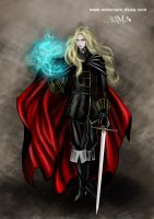 Alucard. Digital colour by DesireeNavarro
