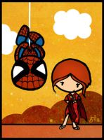 Spiderman and Mary Jane by cippow25