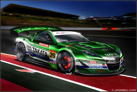2010 Super GT NSX racecar by jonsibal