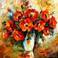 Bouquet oil painting on canvas by L.Afremov by Leonidafremov