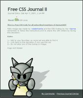 Free CSS Journal II by Karma021