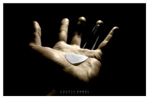 guitar player hand by fourthangel