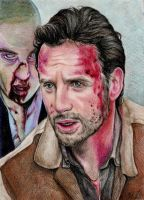 Rick and Shane-The Walking Dead by artistkitty88
