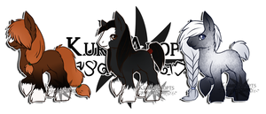 Chibi Shire Ponies: SOLD by Kuro-Creations