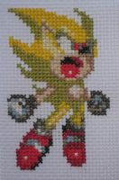 Cross Stitch Super Sonic by Quina-chan